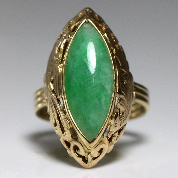 ming s jade marquise bird ring hawaii estate jewelry